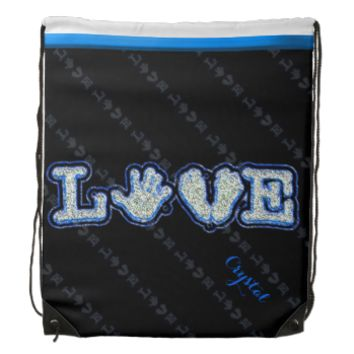 Made With Love (Blue) Backpacks
