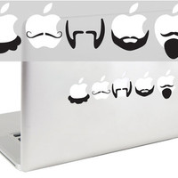 Mustaches and Beards Set 3 MacBook Decal by Suzie Automatic