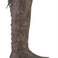 Tall Riding Boot with Lace Up Back