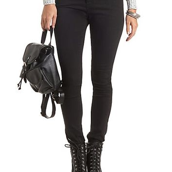 Low Rise Black Skinny Jeans by Charlotte Russe - Black