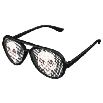 Ghoulish Skull Party Shades
