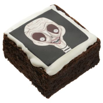 Ghoulish Skull Square Brownie