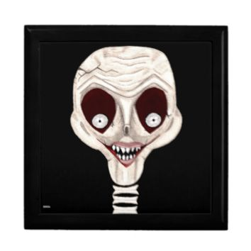 Ghoulish Skull Keepsake Box