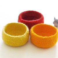 Yellow Felted Bowls / Summer Colors.. on Luulla