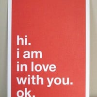 [sold out]  i love you postcards