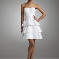 Buy Short Strapless Taffeta Dress with Ruffled Skirt Style 231M03190  , from  for $115.27 only in Fashionwithme.com.