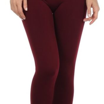 Sakkas Women's Soft Fleece Lined High Waist Leggings