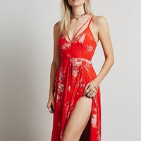 Free People Womens Winter Garden Maxi - Red Combo