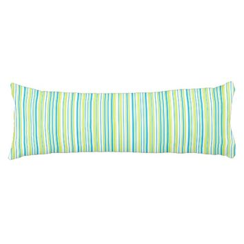 Blue lime green stripes Body pillow