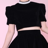 Glitters For Dinner — Made To Order - Mia Velvet Dolly Crop Top