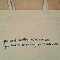 Handsewn & Handwritten Canvas Tote Bag