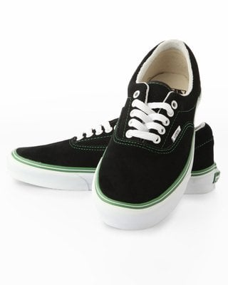 Vans Beantown Era Sneakers- Black / Green