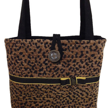 Animal print purse, Brown handbag, Brown purse, Animal print handbag, Leopard handbag, Leopard purse, Brown shoulder bag, Animal print tote