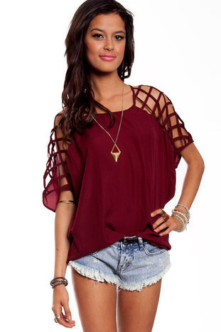 Cross Check Blouse