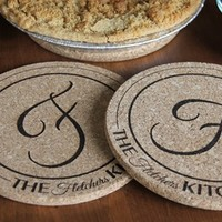 Personalized Large Kitchen Hot Pads - Set of 2! - Fletcher Style