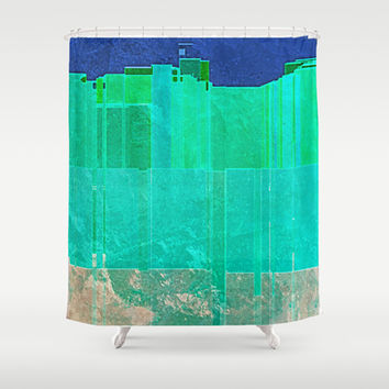 MARINE METROPOLIS Shower Curtain by Catspaws | Society6