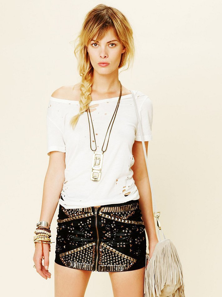 Free People Rattlesnake Mini Skirt