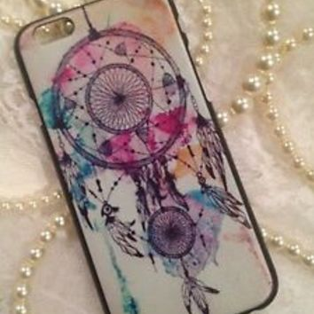iPhone 6 4.7 Case Cover Pink Blue Purple Tribal Dream Catcher Colorful Designs