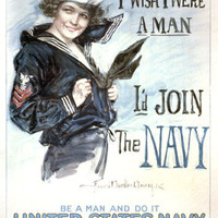 US Navy Recruitment Vintage Poster 8x12 PopMount Ready to Hang FREE SHIPPING