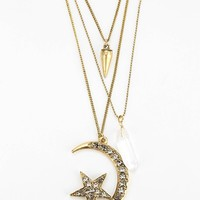 In The Stars Pendant Necklace - Gold One