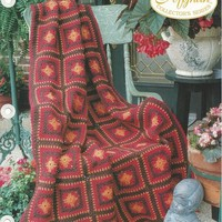 1996 THE NEEDLECRAFT SHOP-COLLECTORS SERIES AFGHAN- INDIAN SUMMER