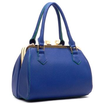 HauteChicWebstore Textured Doctors Women's Tote in Royal Blue www.shophcw.com