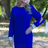 Give Them Something To Talk About Dress: Royal - Lavish Boutique