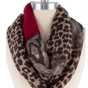 Leopard Print Scarf Womens Scarf Trending Items Lace Scarf  - By PIYOYO