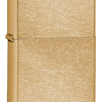 Zippo Gold Dust Street Finish Lighter with Greek Letters