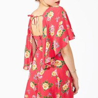 Tie It Back Floral Mini