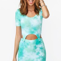 Bundy Cutout Dress - Tie Dye