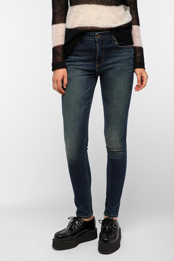 Levis Demi Curve High-Rise Skinny Jean - Blue