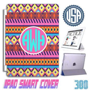 Aztec Tribal Monogram IPad Air Smart Cover IPad mini Custom IPad 4 case IPhone 6 plus IPhone 5 5S 5C 4S Samsung Galaxy note 3 S5 S4 S3 #380