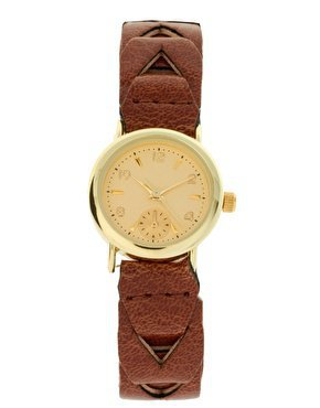 ASOS Leather Look Plait Watch at asos.com