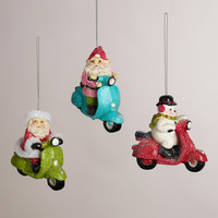 Paper Pulp Scooter Ornaments, Set of 3 - World Market