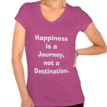 """Happiness is a Journey...."" Women's Purple Top"