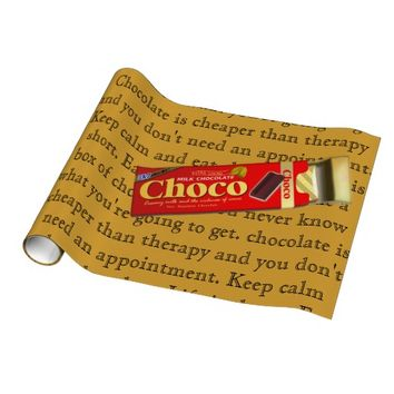 Chocolate wrapping paper