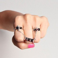 Connected Studded Rings
