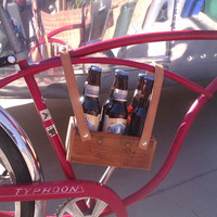 Rustic Beer Bicycle Carrier