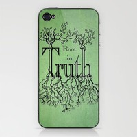 Root in Truth iPhone & iPod Skin by Lisa Argyropoulos | Society6