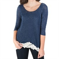 Moa Moa Juniors Knit Top with Chiffon Bow Tie Back at Von Maur