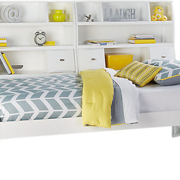 Ivy League White 5 Pc Full Bookcase Daybed