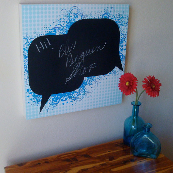 Fun chalkboard speech bubble wall hanging