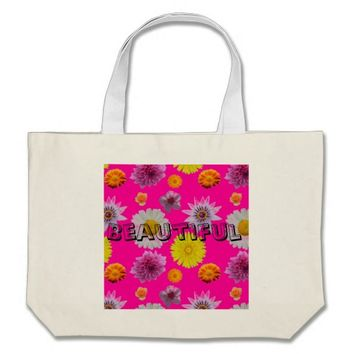 Beautiful Floral Jumbo Tote Bag