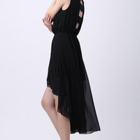 Cut Out Back Anomalous Shift Dress [NCSKD0246] - $21.59 :