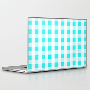 Plaid Flannel Turquoise Mint Laptop & iPad Skin by Beautiful Homes