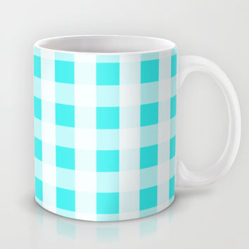 Plaid Flannel Turquoise Mint Mug by Beautiful Homes