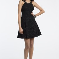 Short Boucle Dress with Illusion Back