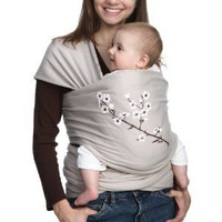 Moby Wrap 100% Cotton UV Protection Baby Carrier, Almond Blossom