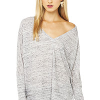 Lazy Day Top in Grey